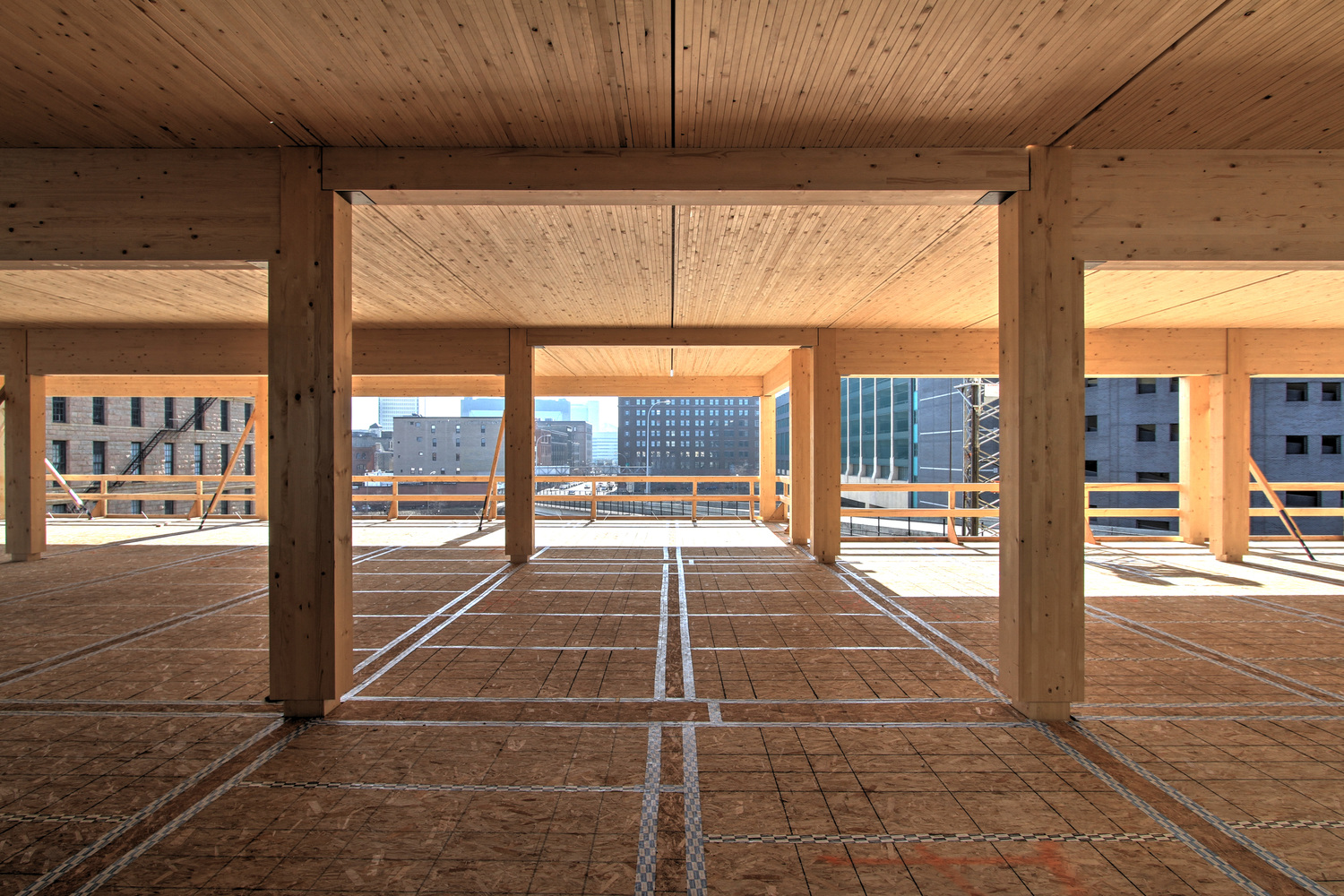 T3 minneapolis 7 storey mass timber office for Cost to build a house in mn