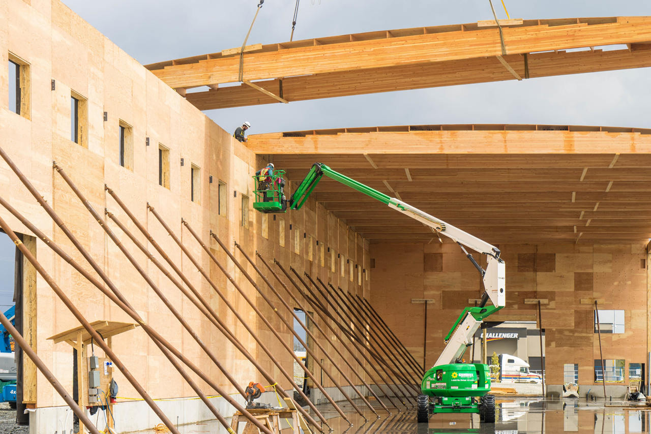 Timber Roof Installation - Mass Timber